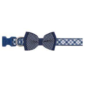 Top Paw Blue Plaid Bow Tie Dog Pet Collar m nwt